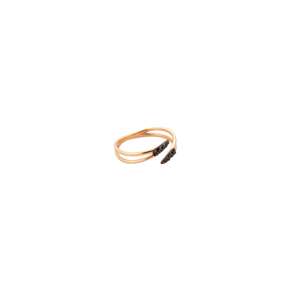 Lumiere Claw Pinky Ring - Black Diamond