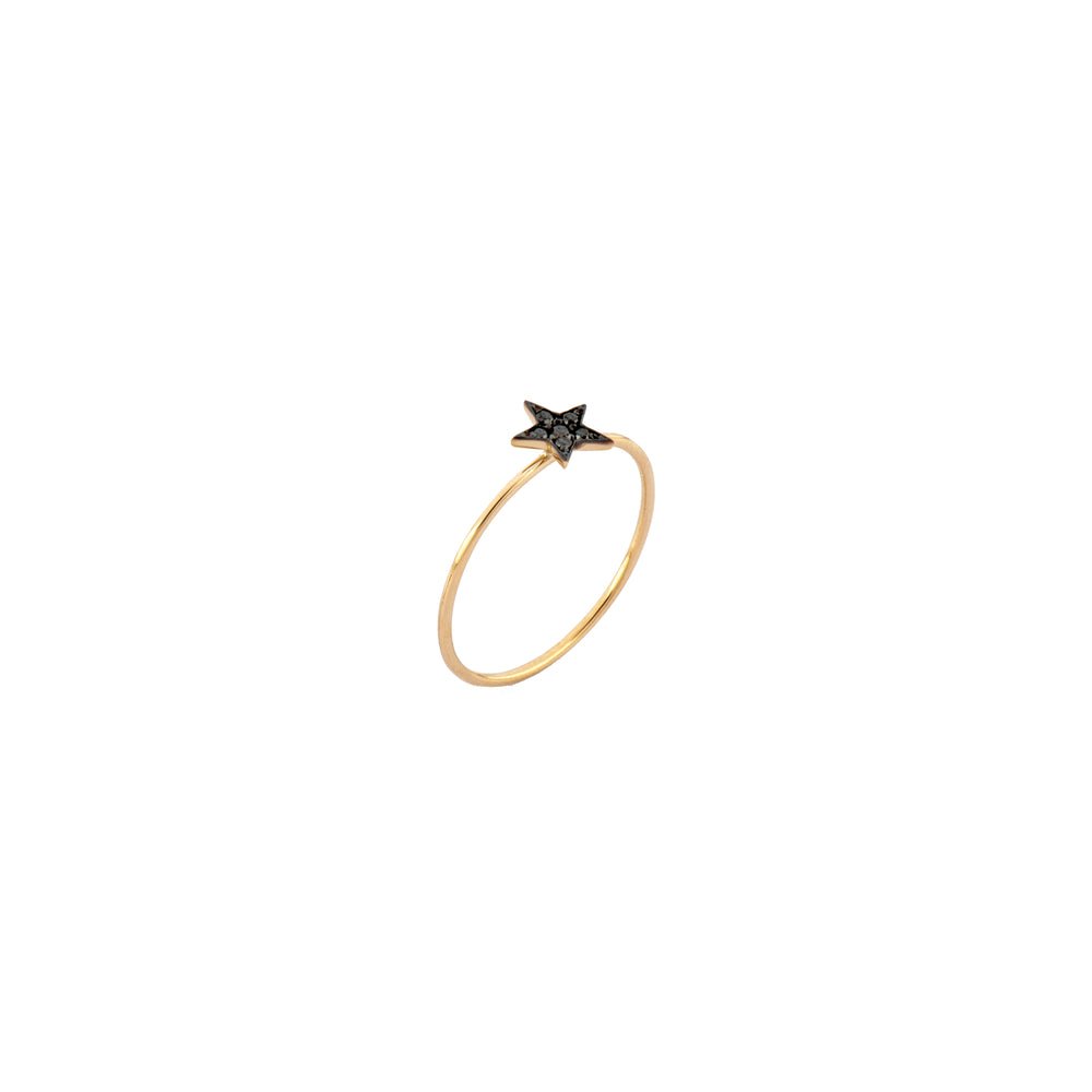 Wonder Women Star Ring - Black Diamond