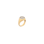 Boys Circle Pave Pinky Ring - White Diamond