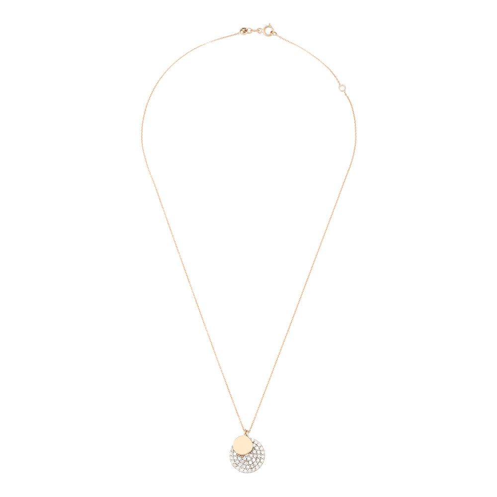 White Diamond Pave Round Necklace