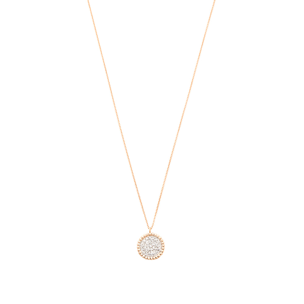 Disc Necklace - White Diamond