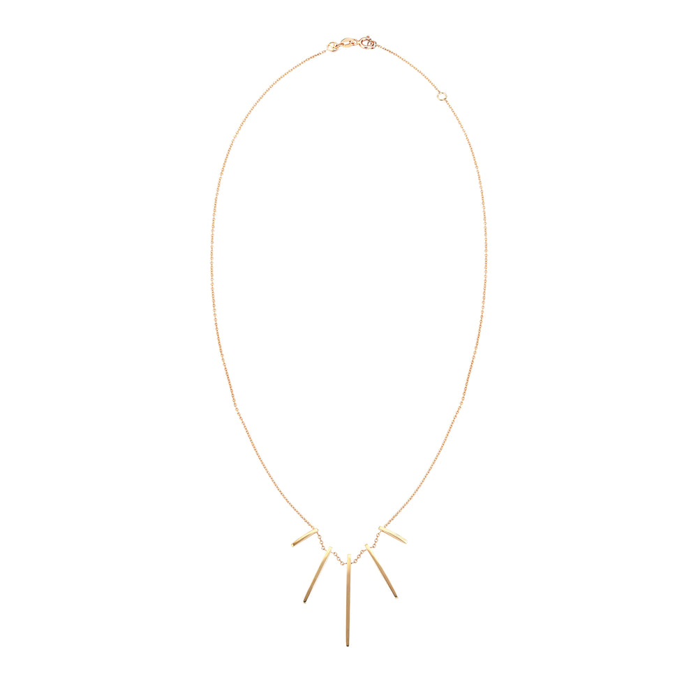 Beat Necklace Plain Gold - Gold