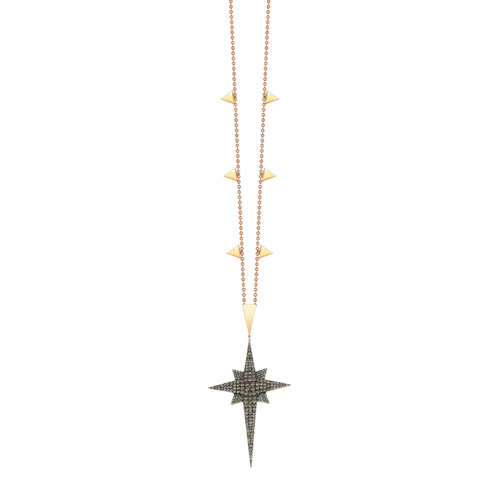 Swinging K Middle Size Star Necklace