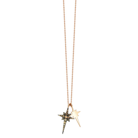 K Double Mini Star Necklace