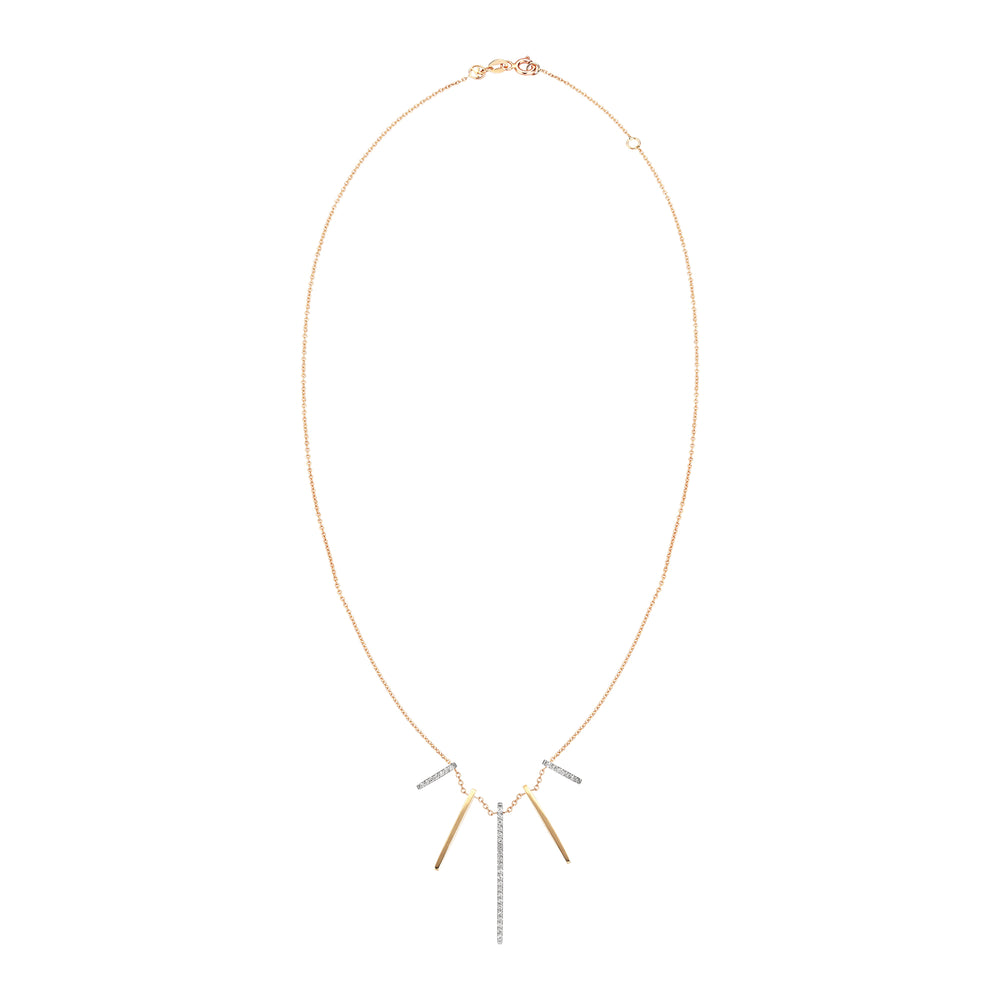 Beat Necklace - White Diamond