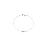 K Star Chain Bracelet - White Diamond