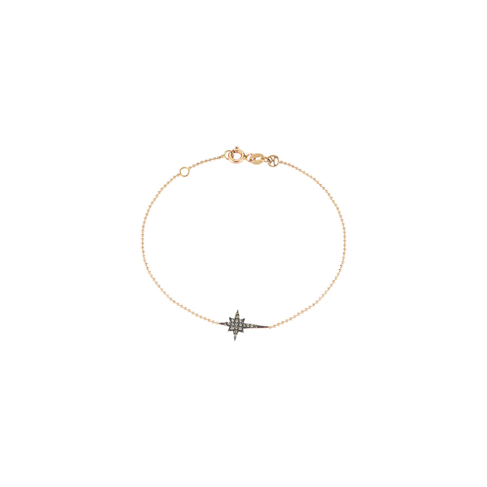 K Star Chain Bracelet - Champagne Diamond