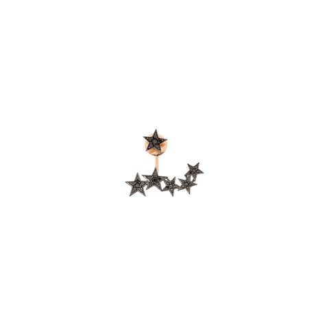 2 Rows Star Earring (Single)