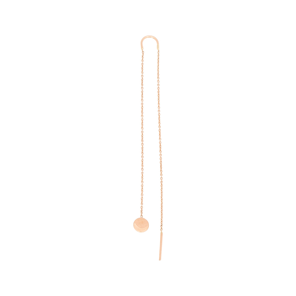 Bidik Disc Long Chain Earring (Single)
