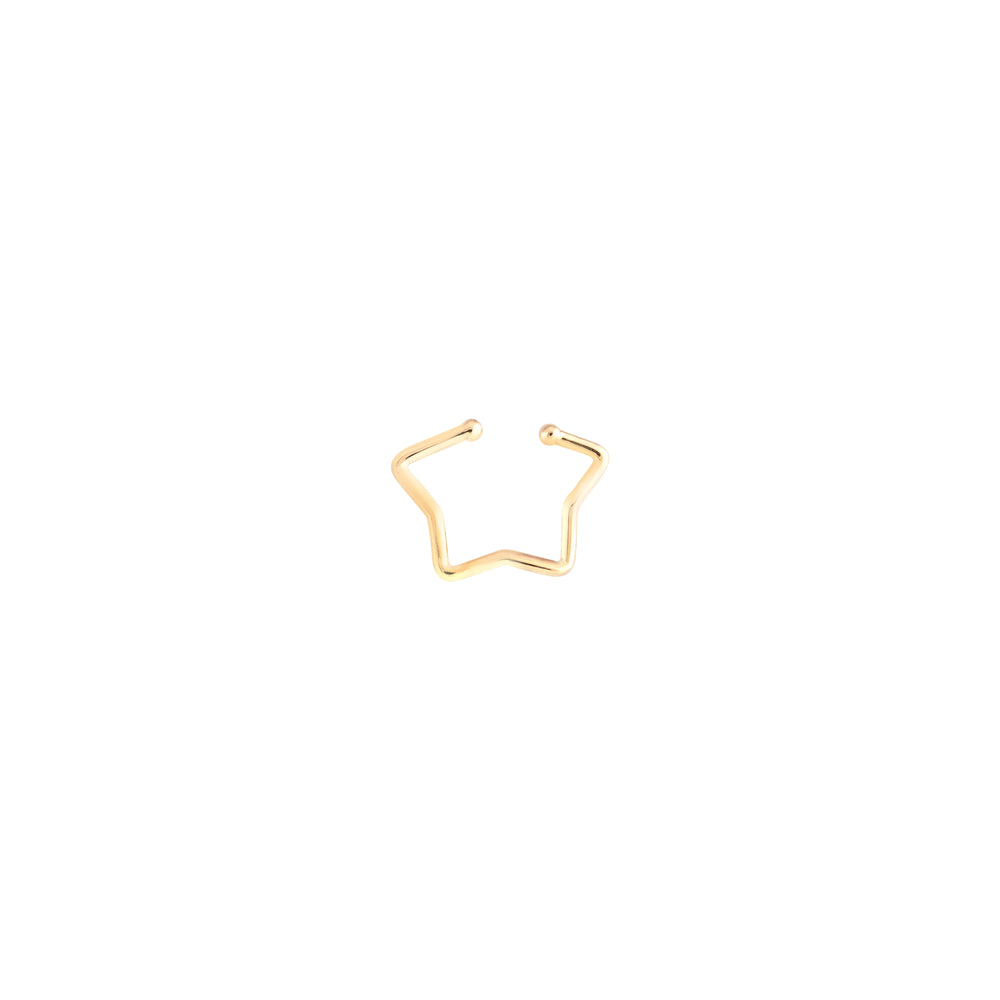 Star Cuff (Single)- Gold