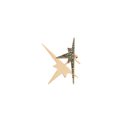 K Double Star Ear Jacket (Single) - Champagne Diamond