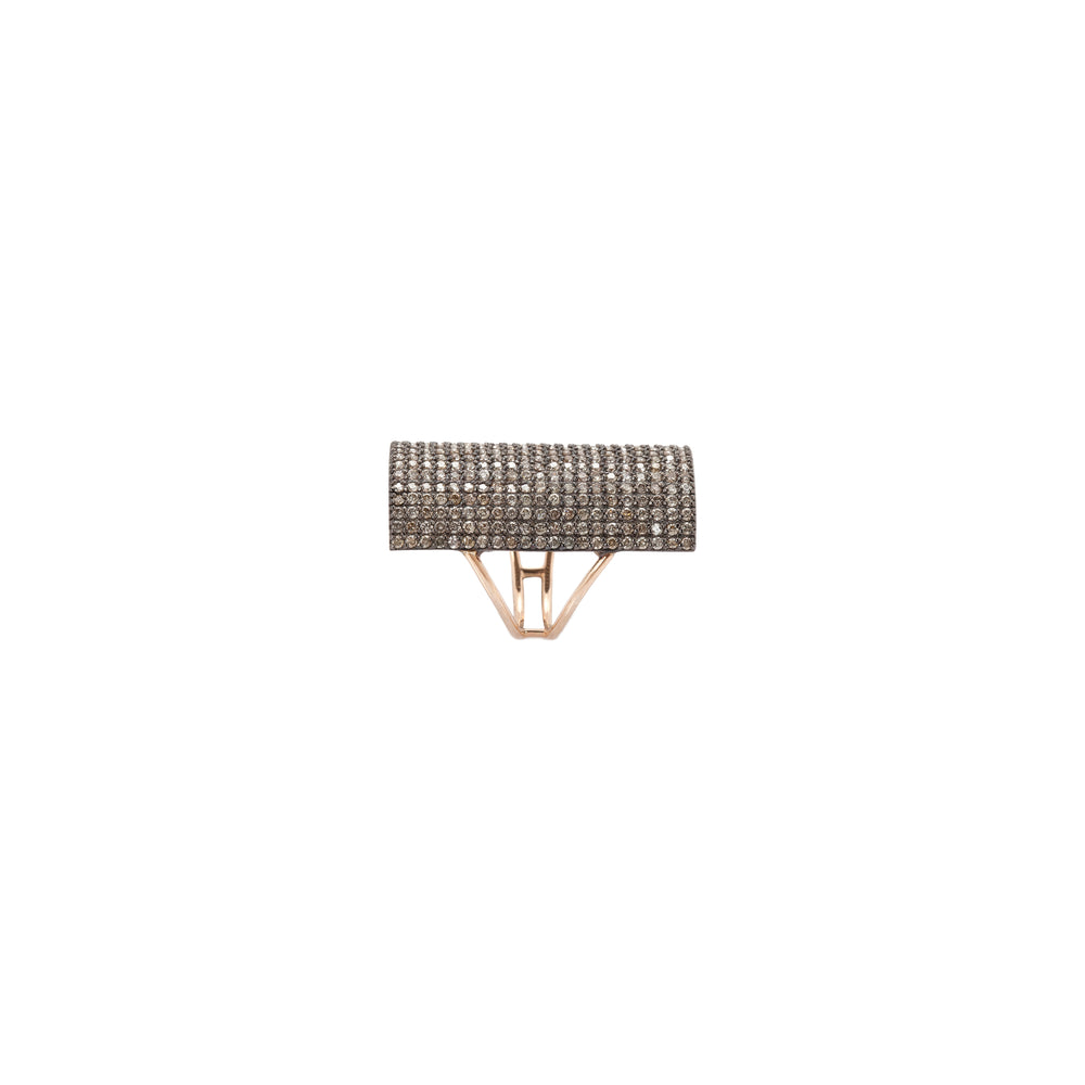 Rectangle Pave Ring - Big Size