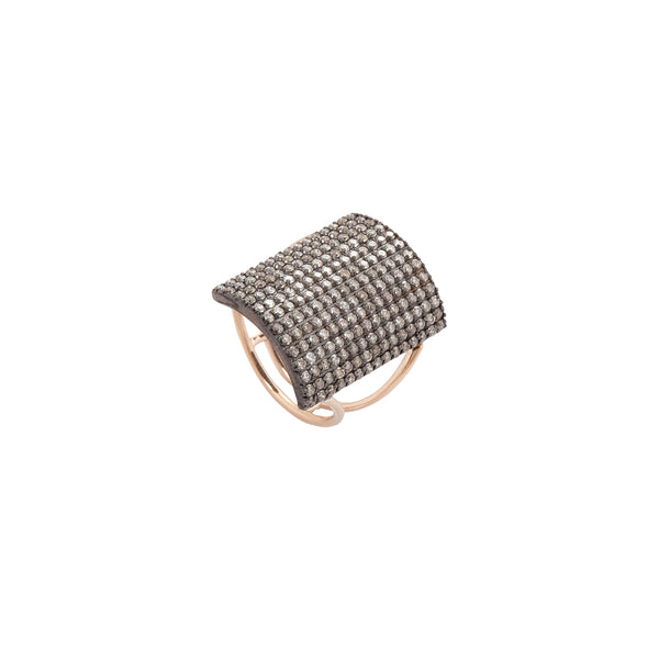 Rectangle Pave Short Ring