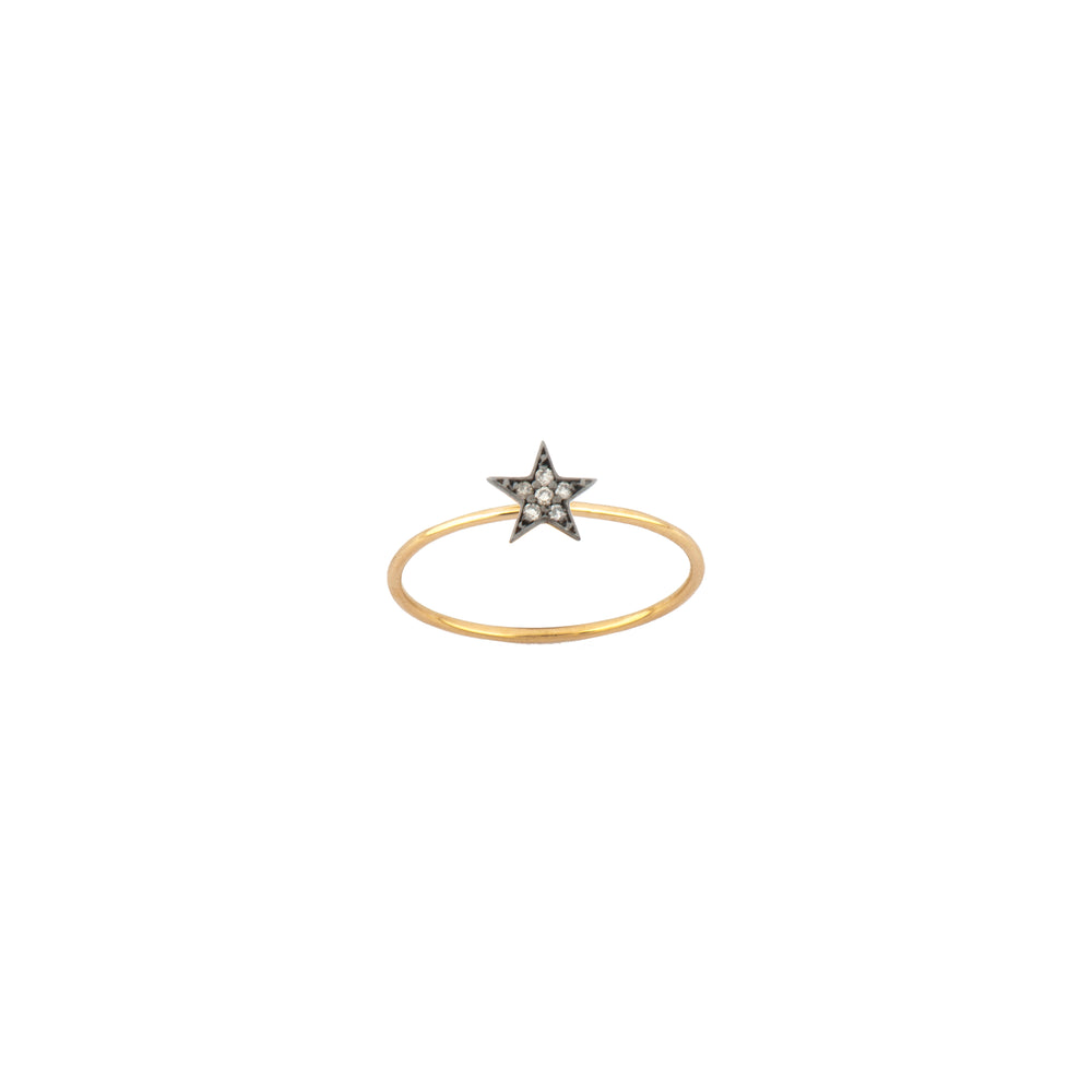 Wonder Woman Star Ring - Champagne Diamond