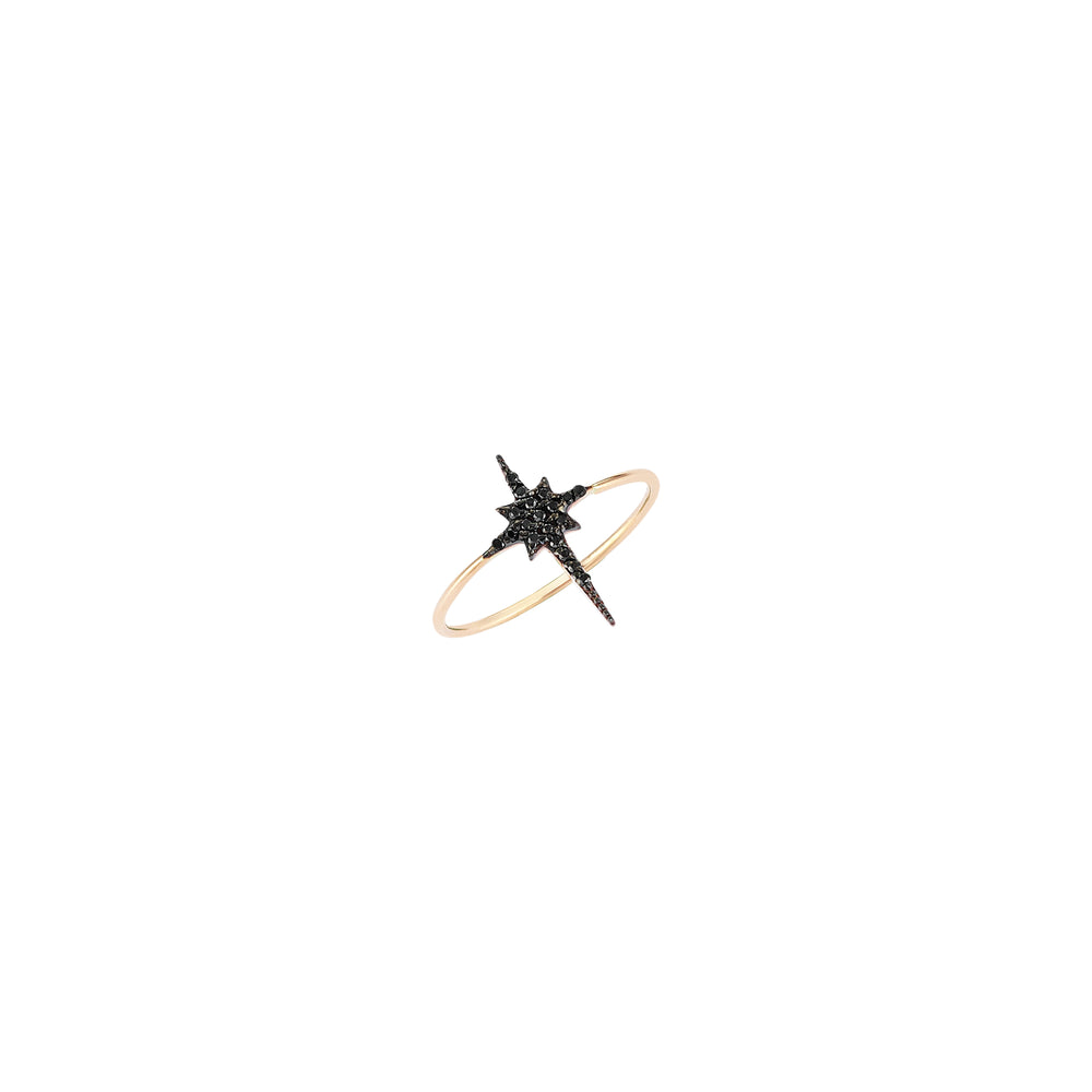 K Star Small Size Ring - Black Diamond