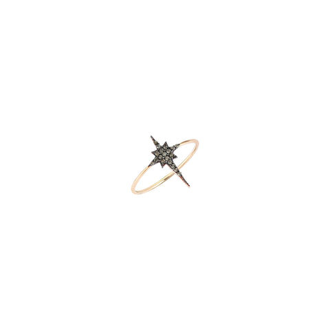 K Star Small Size Ring - Champagne Diamond