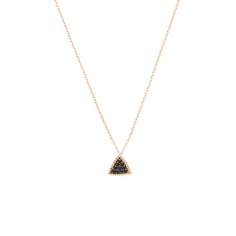 Beaded Ball Triangle Circle Chain Necklace