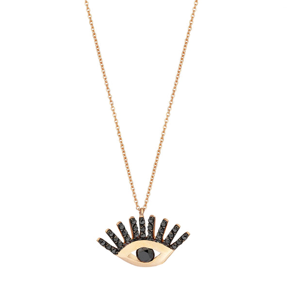 Big Evil Eye Big Necklace - Black Diamond