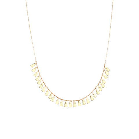 Dangling Geometric Shapes Necklace