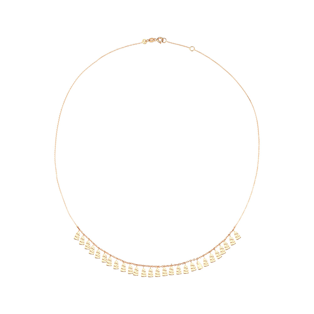 Dangling Geometric Shapes Necklace - Gold