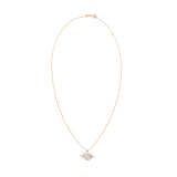 Evil Eye Small Necklace - White Diamond