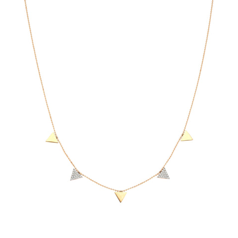 5 Triangle Necklace Big Size