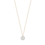 Mini Rounded Sheriff Star Necklace - White Diamond