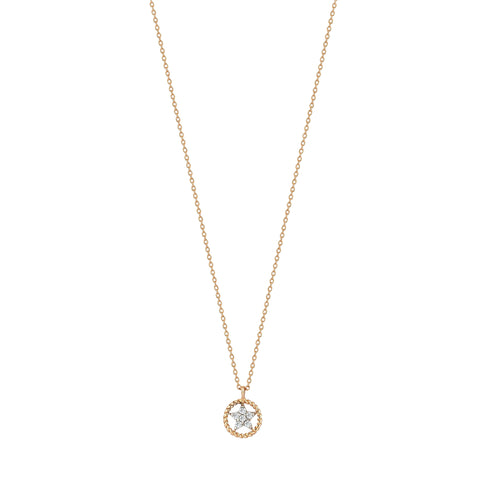 Mini Rounded Sheriff Star Necklace