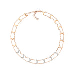 Chevron Choker - White Diamond