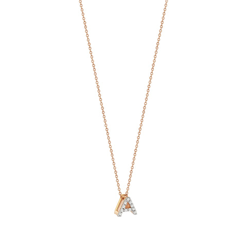 A Cubic Small Size Necklace - White Diamond
