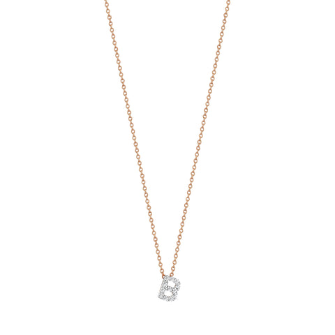 B Cubic Small Size Necklace - White Diamond