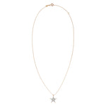 Small Sheriff Star Necklace - White Diamond