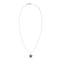 Small Sheriff Star Necklace - Champagne Diamond
