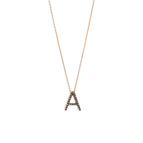 A Cubic Big Size Necklace - Champagne Diamond
