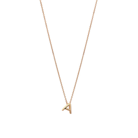 A Cubic Small Size Necklace - Gold