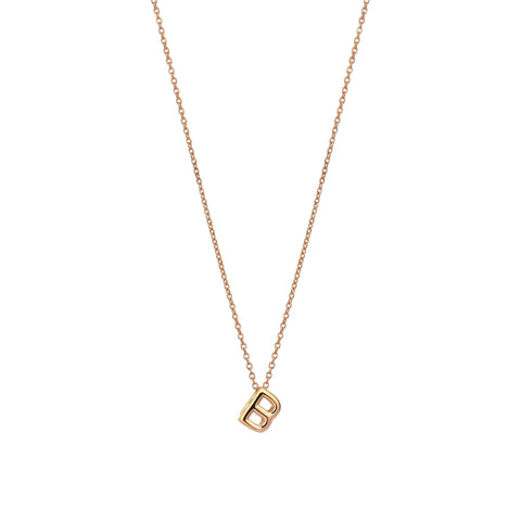 B Cubic Small Size Necklace - Gold
