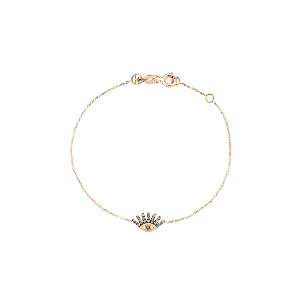 Evil Eye Bracelet - Champagne Diamond