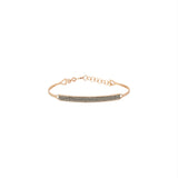 Double Bar Beaded Ball Short Bangle