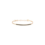 Single Bar Beaded Ball Short Bangle