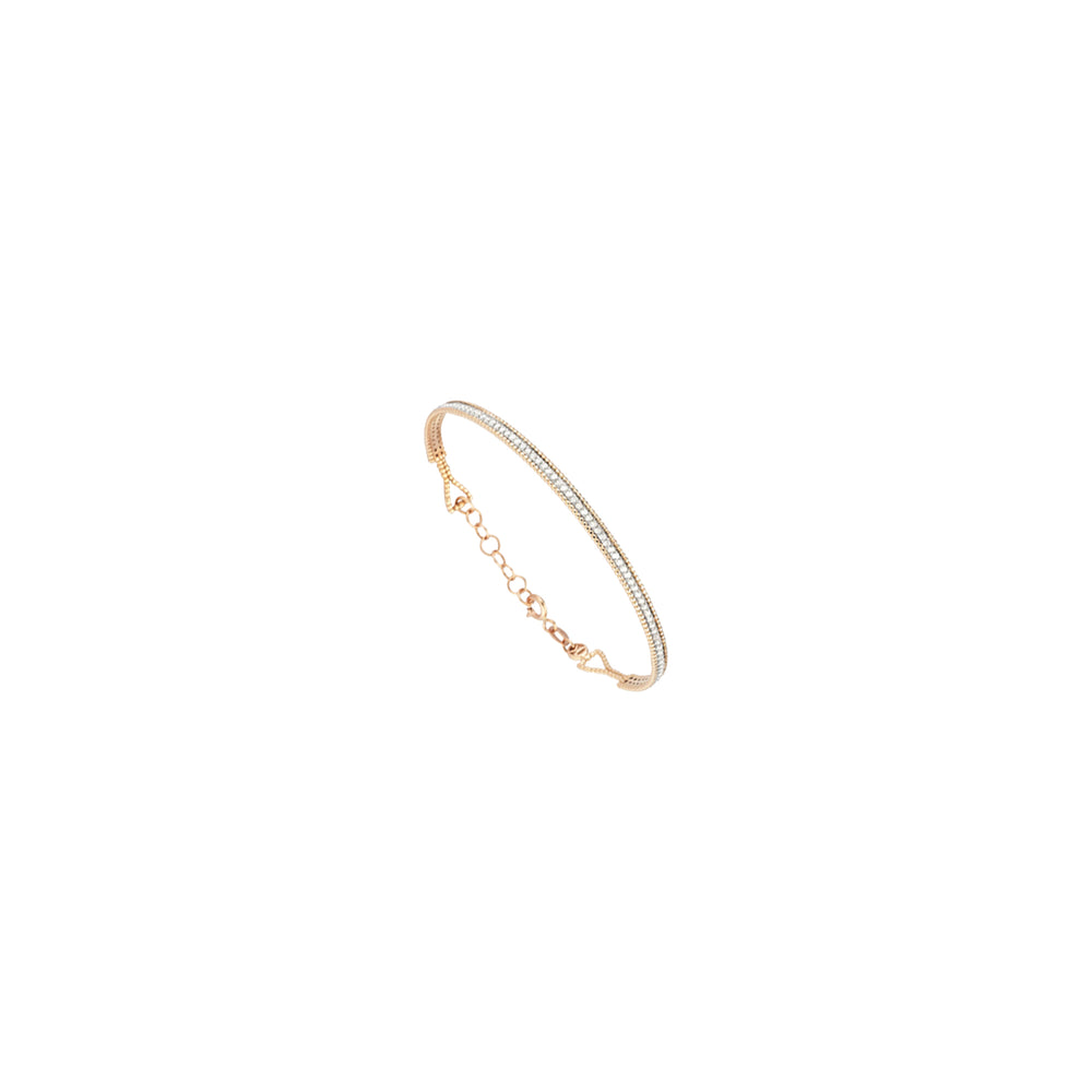 Single Bar Beaded Ball Long Bangle