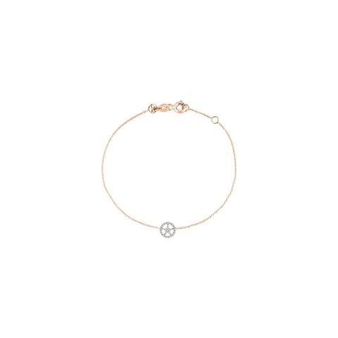 Mini Rounded Sheriff Star Bracelet - White Diamond