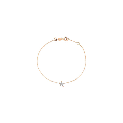 Sheriff Star Chain Bracelet - White Diamond