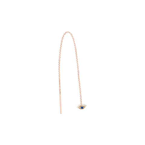 Evil Eye Earring With Long Chain (Single)