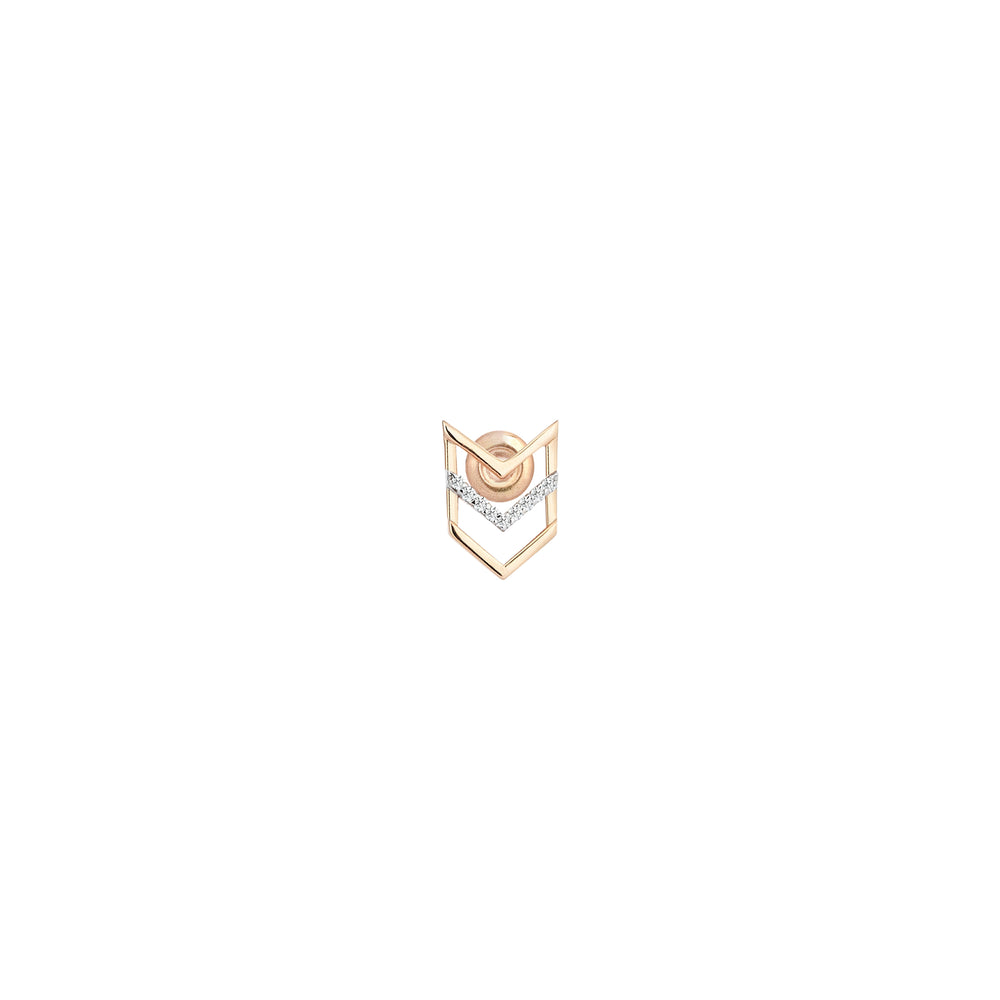 Triple-Chevron Single Stud (Single)