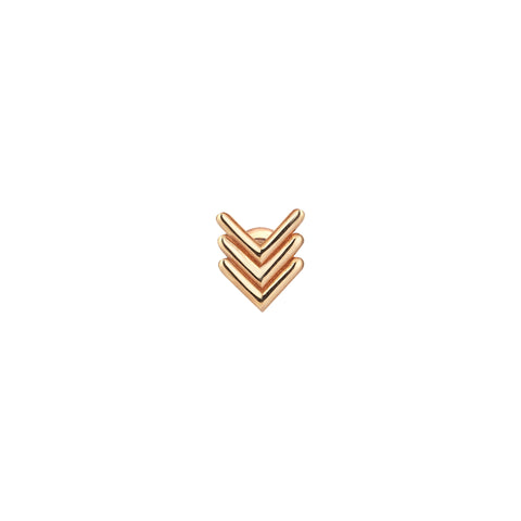 Triple Chevron Stud (Single)