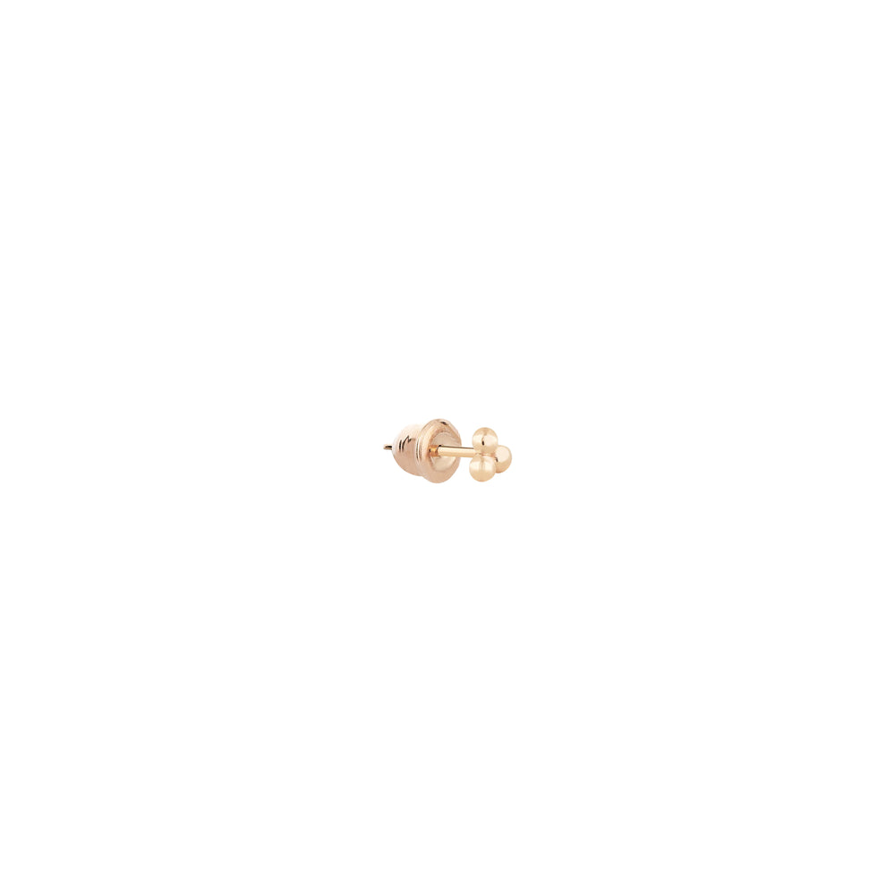 3 Balls Stud (Single) - Gold