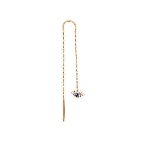 Evil Eye Chain Earring (Single)