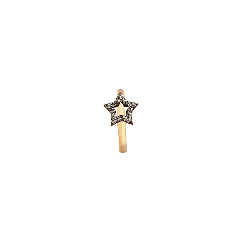 Sheriff Star Hoop (Single) - Champagne Diamond