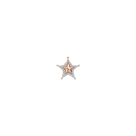 Sheriff Star Earring (Single)