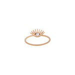 Evil Eye Ring - White Diamond